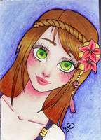 Emerald eyes (sketchbook 2) by Little-Pauline