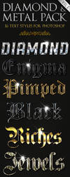 Diamond and Metal vol. 2 - Text Styles by ivelt