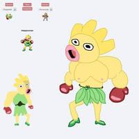 Pokemon Fusion - Weepinchan by Demonheadge