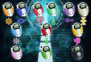 Digimon Adventure 02 - D-3 Digivice Uplink by NelaNequin