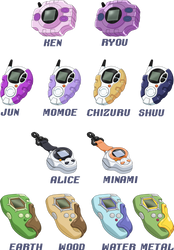 Additional Digivice Colors by NelaNequin