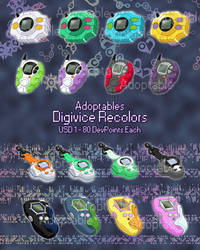 Digivice Recolors - Adoptables by NelaNequin