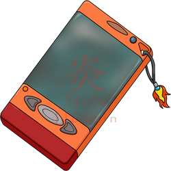 [CM for Stardust00] A very fiery Digivice by NelaNequin