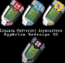 Digimon Universe - AppDrive Redesign 01 by NelaNequin