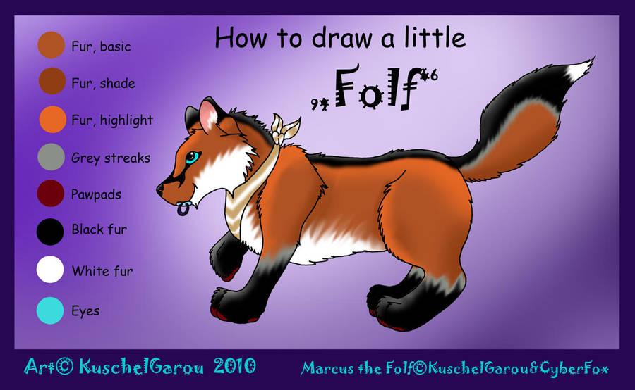 How to draw a little 'Folf' by KuschelGarou