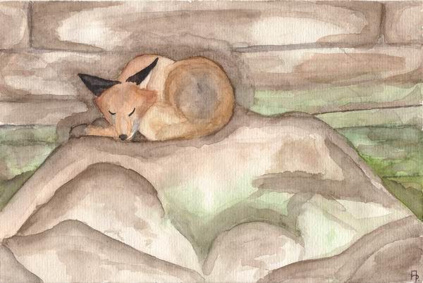Sleepy Fox by KuschelGarou