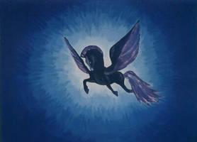 Black Pegasus by KuschelGarou