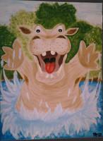 Hippo by KuschelGarou