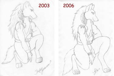 Bluewolf im Vergleich by KuschelGarou