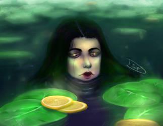Pond or tea? by YukininaSuzu
