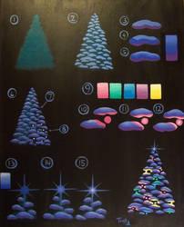 Glowing Christmas Tree Painting Tutorial by katTink