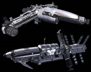 Iron Sky - CanadArm 3 and Spitfire by Morriperkele