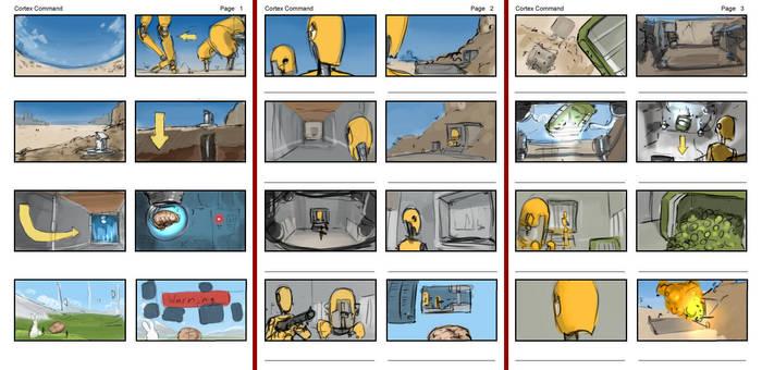 Cortex Command Storyboard by Morriperkele