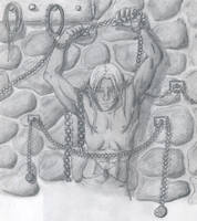 Drizzt in Prison by HogoshaTenshi