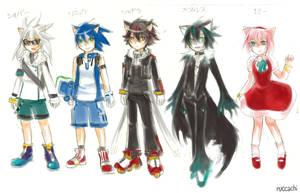 Sketch - Gijinka Sonic 1 by chobitsG