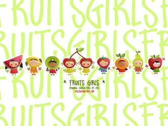 fruits girls wall by JDe