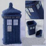Crocheted Tardis Box by siniart