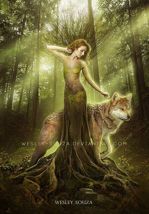 Dryad by Wesley-Souza