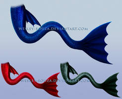 Dark Mermaid Tail - PNG Stock by Wesley-Souza