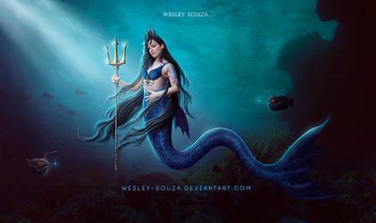 Dark Mermaid - Commission by Wesley-Souza