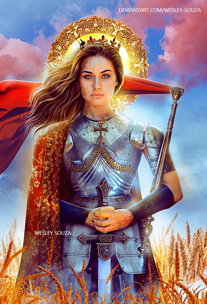 Joan Of Arc - Saints and Mystic Reading Cards by Wesley-Souza