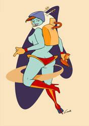 Spacegirl by liquidscissors