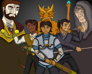 DnD 5e Adventuring Party by Internet-Ninja
