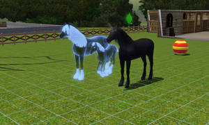 Sims 3: Ghost Unicorn Foal! by horse14t