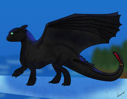 How I Draw Toothless (request) by horse14t