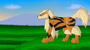 How I Draw: Arcanine (request) by horse14t