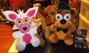 Funtime Foxy (Mangle) and Freddy Plushies! by horse14t