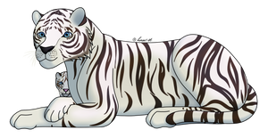 How I Draw A: White Tiger (request) by horse14t