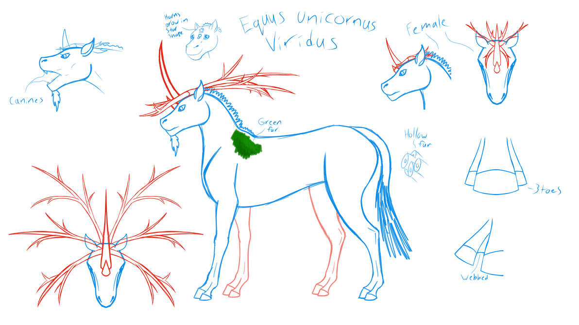 Swamp Unicorn Concept by horse14t