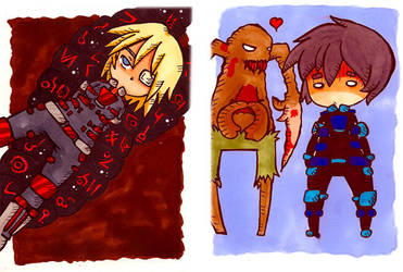 Chibi Dead Space SketchCards 2 by SheriffGraham