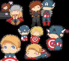 Chibi Avengers Dump 1 by SheriffGraham