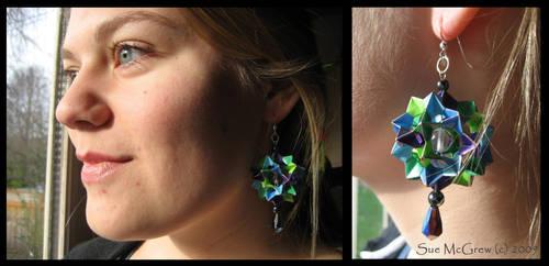 Handmade Origami Earrings 2 by Suzuko42