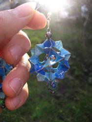 blue electra origami earrings2 by Suzuko42