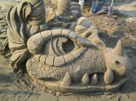 Sand Dragon Profile Right by Suzuko42