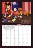 2010 Calendar - October by BlazeRocket