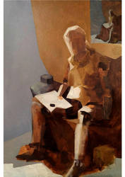 Oil study by Natalie-CaLoie