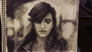 Practice drawing with charcoal. by akarudsan