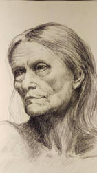 Portrait study: Old age thoughts by akarudsan