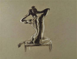 Figure drawing toned paper by akarudsan