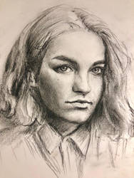 Young girl portrait study by akarudsan