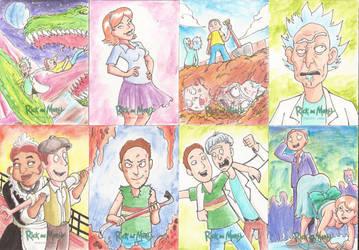 Rick and Morty Sketchs Cards by EmanuelBraga