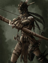 Concept Wild Huntress by Sharprock86