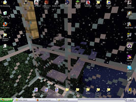 Minecraft snow desktop by tirsden