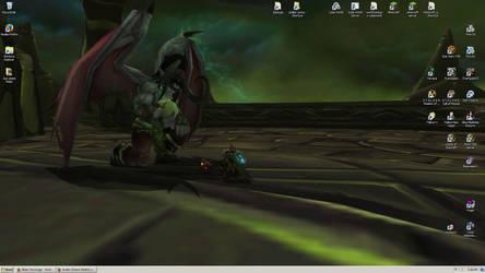 My Lord Illidan - Desktop Screenie by tirsden