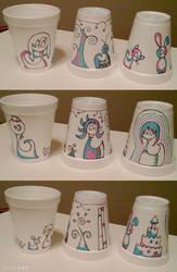 PT Rehab Styrofoam Cup Art 3 by tirsden