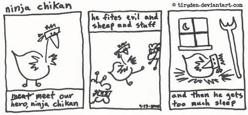 Ninja Chikan first strip by tirsden